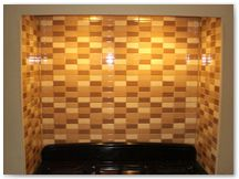 Ceramic kitchen wall tiling